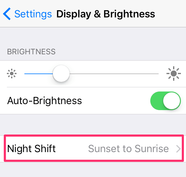 NightShift Enable