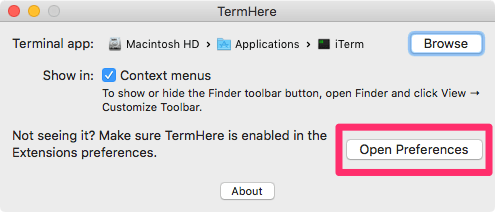 TermHere Preference