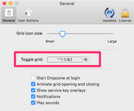 Dropzone 3 Toggle Grid